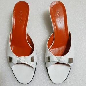 🎈GUCCI🎈 women's kitten heels sandals size 7.5B